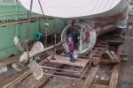 astilleros armada - reparación de buques - línea de eje de cola
